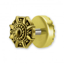 FAUX PLUG TRIBAL EN LAITON  1,2 x 6 mm mod.5