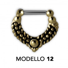 SEPTUM CLICKERS TRIBAL EN LAITON MODÈLE 12