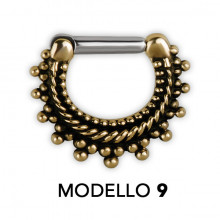 SEPTUM CLICKERS TRIBAL EN LAITON MODÈLE 9