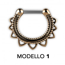 SEPTUM CLICKERS TRIBAL EN LAITON MODÈLE 1