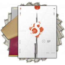 PAPIER STENCIL S8 RED 100 unités - 210x280mm