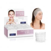 Bandeau à cheveux blanc - seul paquet - Polybag 100 unités